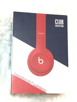 Beats By Dre Solo3 Wireless Bluetooth On-Ear Headphones Club Red Collection New in box sealed 100% Authentic for Sale in Kent, WA