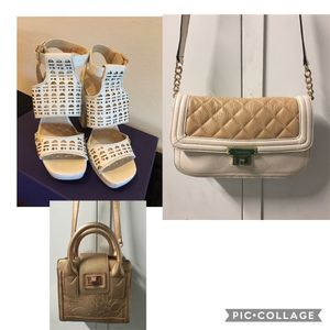 All for the price of one ... Genuine Leather Shoes & Purse by CK & BeBe purse for Sale in Los Angeles, CA
