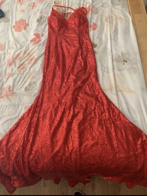 Red sequin prom dress for Sale in Jacksonville, FL