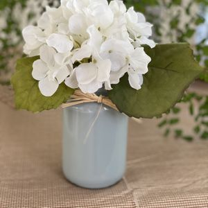 Decorative vase with white hydrangeas for Sale in Placentia, CA