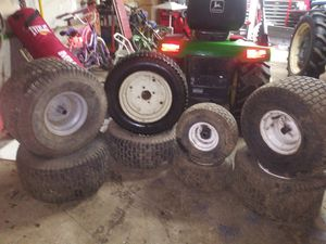Riding lawn mower wheels for Sale in Vancouver, WA