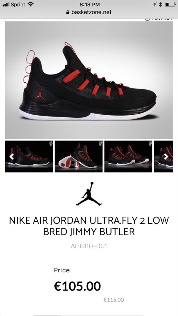7849a5c82dc7f6 NIKE AIR JORDAN ULTRA.FLY 2 LOW BRED JIMMY BUTLER for Sale in ...