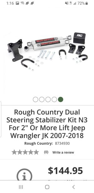 Jeep jk parts/rough country steering stabilizers for Sale in Vancouver, WA