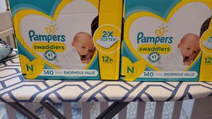 Pampers swaddlers newborn diapers for Sale in Philadelphia, PA