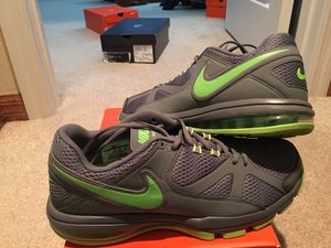 """"""" MINT CONDITION - NIKE AIRMAX COMPETE TR / MENS 11 !!! COOL GREY /w LIME ACCENTS & INSIDE AIR UNIT !!!! DIFFICULT TO FIND!!!! for Sale in Orlando, FL"""