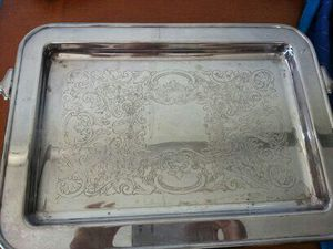 Silver serving tray for Sale in West Palm Beach, FL