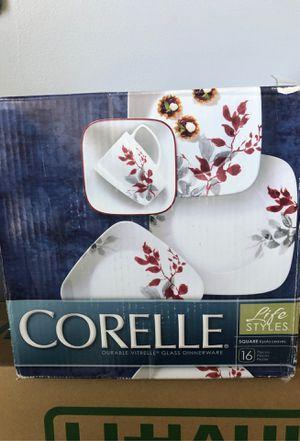 Corelle Durable Vitrelle Glass Dinnerware 16 Piece for Sale in Clovis, CA