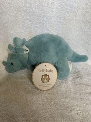 Kellybaby Plush Dinosaur Teal/Blue Baby Dinosaur Doll for Sale in Nashville, TN