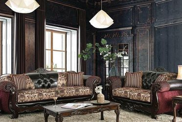 Sofa & Loveseat Fancy Elegance Traditional With All Beautiful Pillows for Sale in Lilburn,  GA