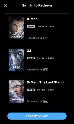 4K X-Men BEGINNINGS — TRILOGY — 4K MA for Sale in Artesia, CA