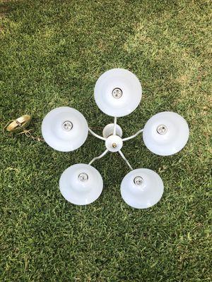 Light fixture chandelier 5 bulbs for Sale in San Antonio, TX