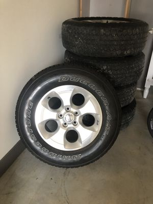Jeep wrangler set of five wheels and tires for Sale in Murfreesboro, TN