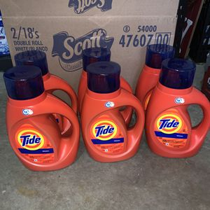 6 Tide HE Laundry Detergent 40oz for Sale in Spanaway, WA
