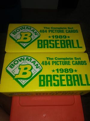 Factory sealed 1989 Bowman baseball set. Ken Griffey jr. Card in awesome condition in each box. for Sale in Kent, WA