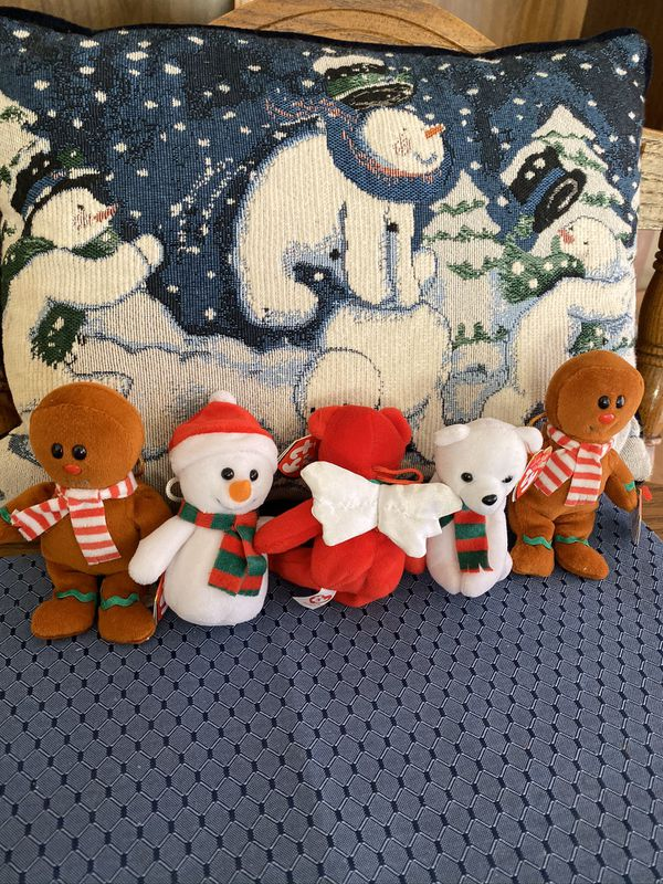 Ty Christmas Baby Beanies lot of 5