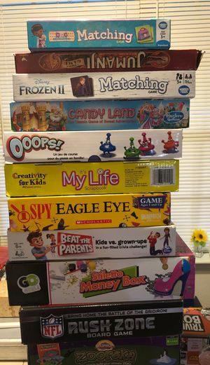 15 complete board games and puzzles for Sale in Houston, TX