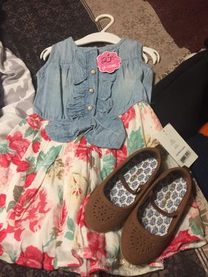 Easter dress and shoes brand new for Sale in Colton, CA