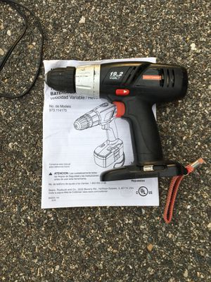 Craftsman cordless drill cordless flashlight cordless screwdriverneed battery and change all for $25 for Sale in Glade Hill, VA