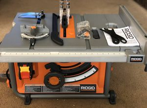 """RIDGID 10"""" compact TABLE SAW with STAND for Sale in Pomona, CA"""