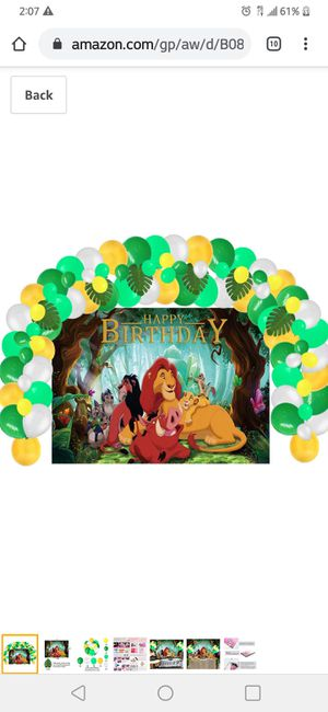 Lion King Birthday Party Supplies Decorations, Backdrop and Balloons Kit for Kids Photo Background, for Sale in Mesa, AZ