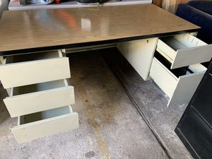 Cream Office Desk (A) - Delivery for Sale in Queens, NY