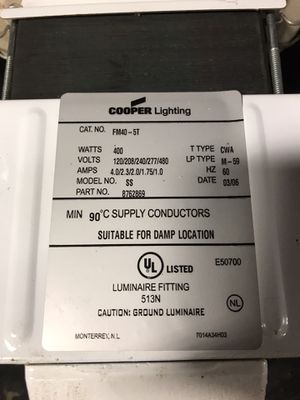 Cooper lighting for Sale in Tacoma, WA