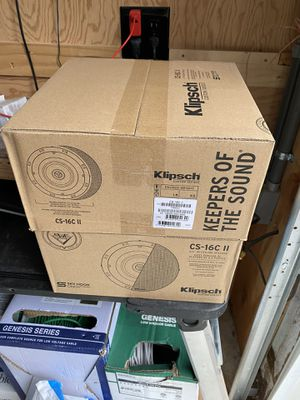 Klipsch CS-16C II current model in ceiling speaker 1 Pair ( 2 speakers) NEW We will ship for $13.99 for Sale in Tacoma, WA