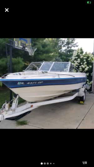 1985 web craft dynasty 17 foot inboard boat with trailer for Sale in Varna, IL