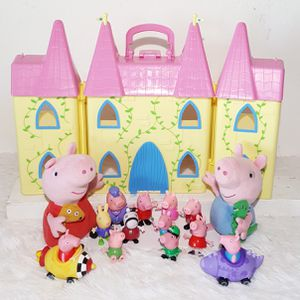 Peppa Pig castle figures and plush stuffed animal dolls for Sale in Tolleson, AZ