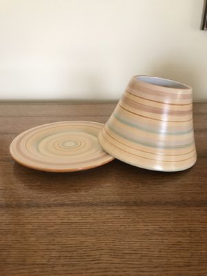 Yankee Candle shade & plate fits 14.5 oz & 22 oz jars for Sale in Dayton, MD