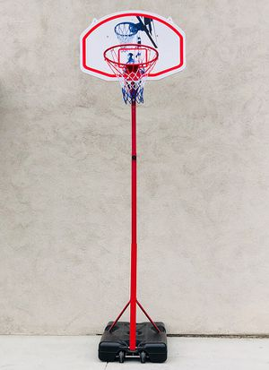 """$75 NEW Basketball Hoop w/ Stand Wheels, Backboard 32""""x23"""", Adjustable Rim Height 6' to 8' for Sale in Pico Rivera, CA"""