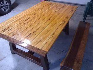 Dining table and bench (Maple and black walnut! for Sale in Galloway, OH