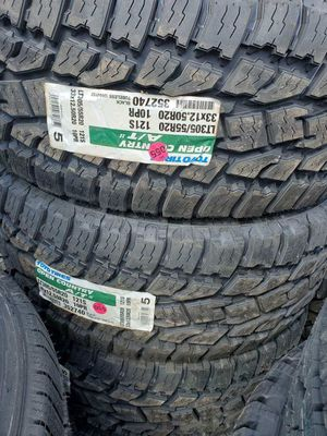 NEW TIRES 305/55/20 , 33X12.50R20 TOYO OPEN COUNTRY ATII, FREE INSTALLATION AND BALANCE for Sale in Garland, TX