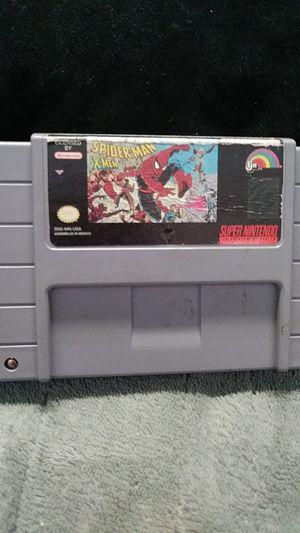 Super Nintendo SNES Spider-Man X-Men arcades Revenge read description for Sale in Hesperia, CA