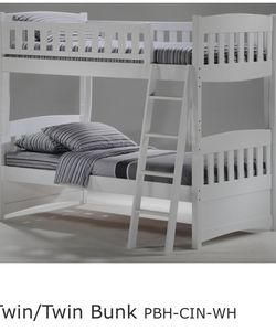 Like new white twin bunk bed for Sale in Leander,  TX