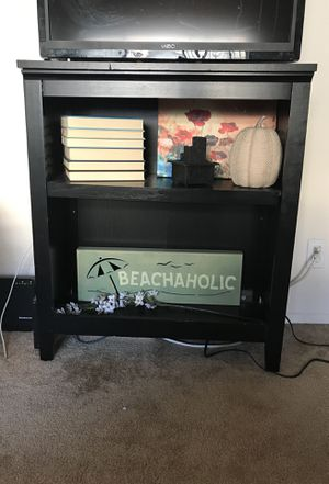 Black wood TV Stand for Sale in Los Angeles, CA