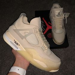 """Jordan 4 Retro Off-White """"sail"""" Women's sneaker - size 13 Condition: VNDS tried on 1x (No star loss) 🌟 for Sale in Oklahoma City,  OK"""