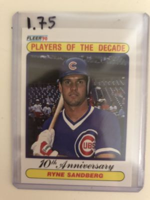 Ryne Sandberg Fleer 1990 Player of the Decade Card 625 for Sale in Atlanta, GA
