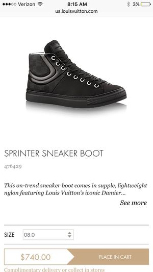 Louis Vuitton Sneaker Boots Men's 13 for Sale in Owings Mills, MD