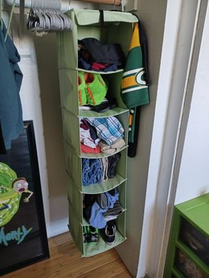 Light green closet organizer for Sale in Peoria, AZ