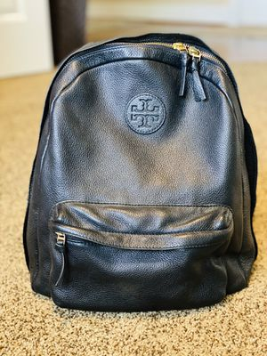 Tory Burch Black Leather Backpack for Sale in Snohomish, WA
