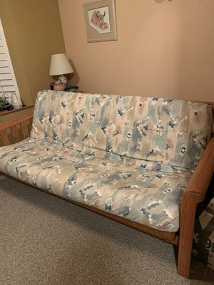 Oak Solid Wood Futon - Makes a Double Bed for Sale in Madera, CA