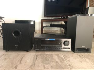 ONKYO Receiver SONY and PIONEER Theatre Speakers for Sale in Wichita Falls, TX