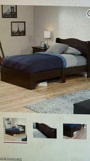 Sauder Storybook Twin mate bed. Jamocha Wood Finish! Does not include matress! Serious buyers only! for Sale in Orlando, FL
