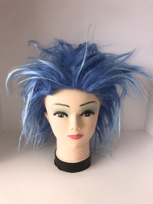 Funky blue punk wig costume. Adult one size fits most for Sale in Saint Albans, WV