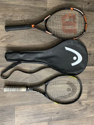2 Tennis rackets for sale..one has a bag as well.. for Sale in Sandy Springs, GA