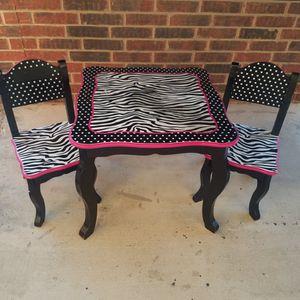 Zebra Kids Table & Chairs Set for Sale in San Antonio, TX