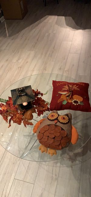 Fall decor/ seasonal home decor (candleholder&pillows) for Sale in Chicago, IL