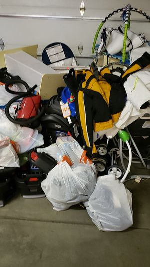 Britax car seats, mamaroos, one docks, baby einstein jumpers, alot of stuff, let me know what you are interested in so you can pick up and buy. for Sale in Denver, CO