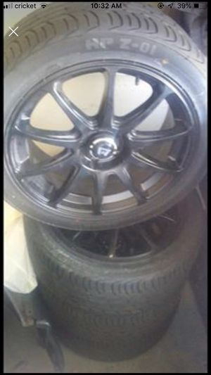 Racing rims and tires for Sale in Aurora, CO